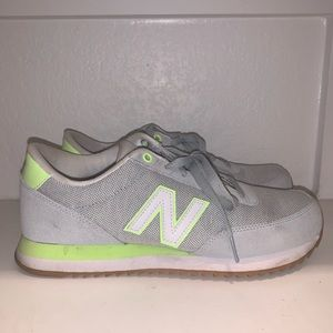 Green and Grey New Balance Sneakers